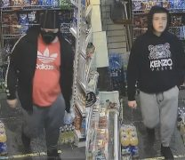 Police are appealing for information on the two people pictured.