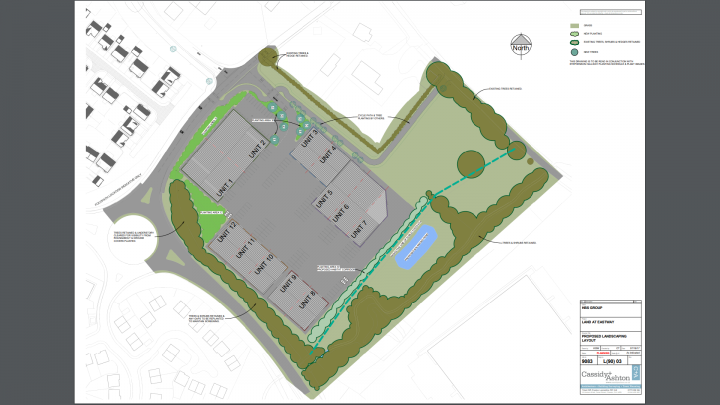 Picture from the planning application showing the layout of what is being built.