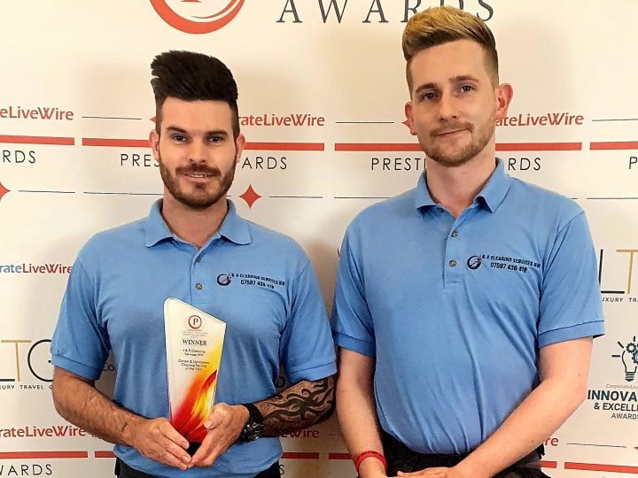 James and Rob with their award