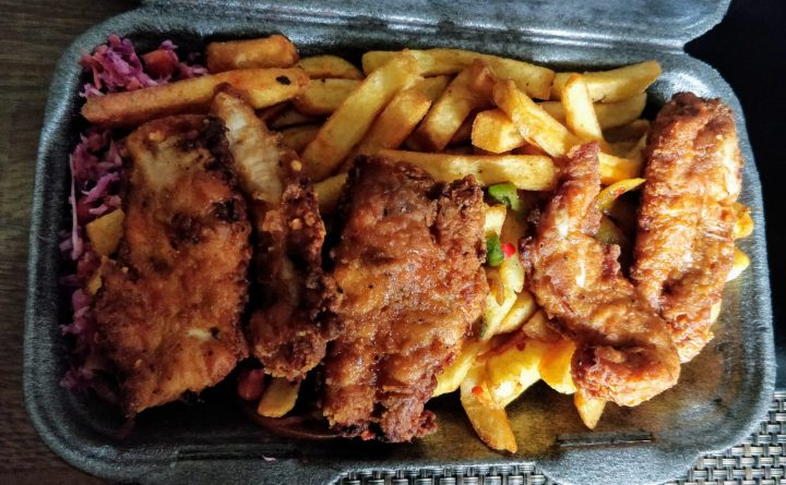 Jam Bowl fried chicken and chips