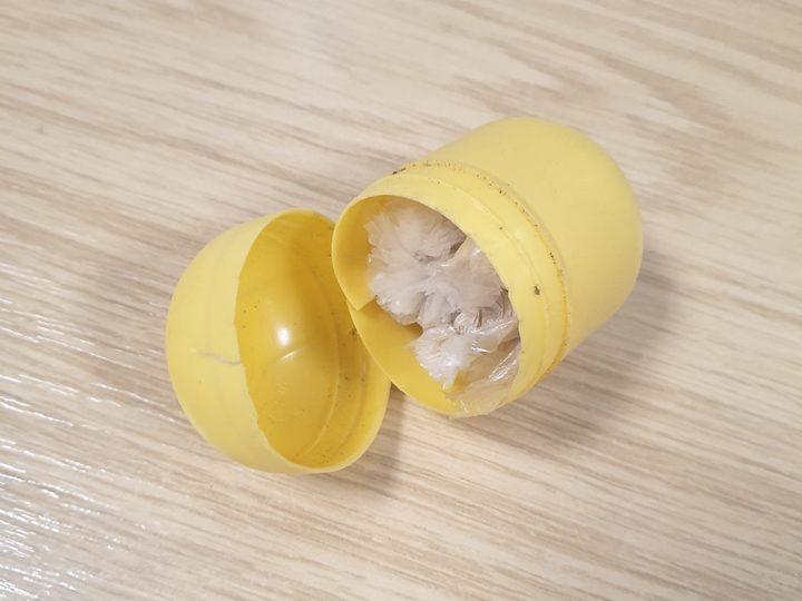 Kinder Surprise Egg filled with drugs