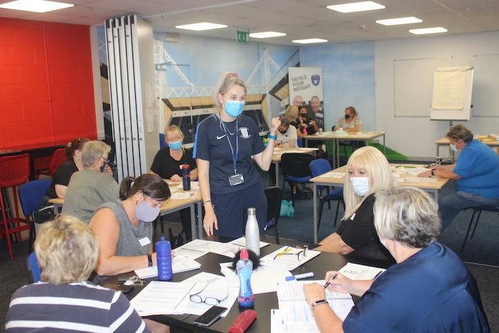 Delivering a weight management programme at PNE Pic: PNECET