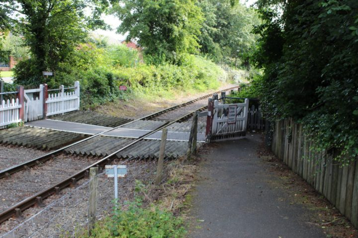 Path by the railway line Pic: Geoffrey Whittaker