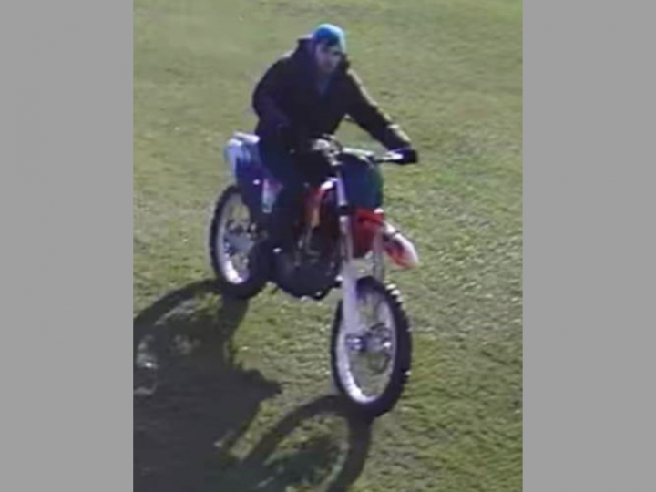 Penwortham motorcyclist riding with no registration Pic: South Ribble Police