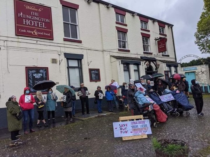 Community protest to save The Plungington Hotel. Pic: Jess Hopwood
