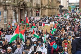 The Preston for Palestine march in Lancaster Road Pic: Sonia Bashir