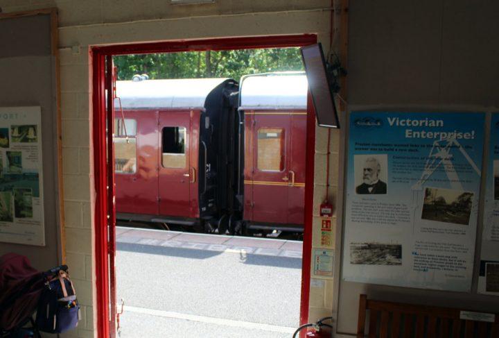 Steam train at platform Pic: Geoffrey Whittaker