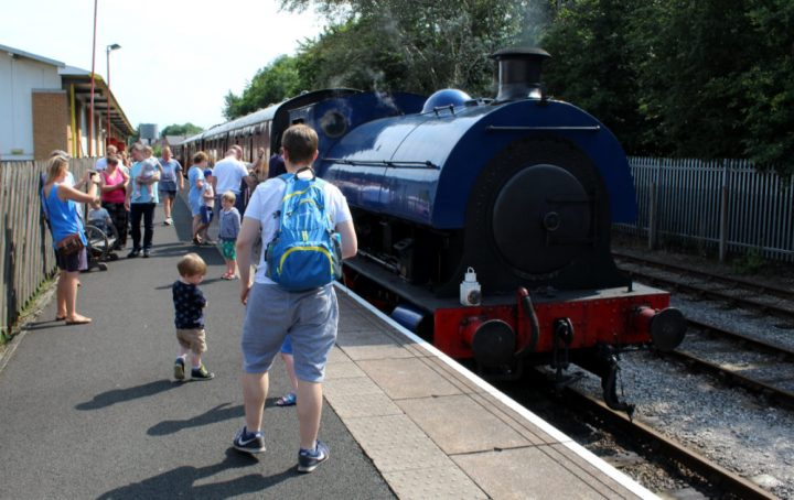 Steam train at the station Pic: Geoffrey Whittaker