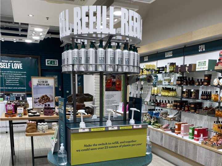 The Body Shop Preston's new refill station