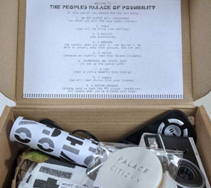 A package from The People's Palace of Possibiity