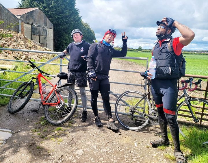 The team regularly updated their donators with pictures and videos of their 300 mile journey.
