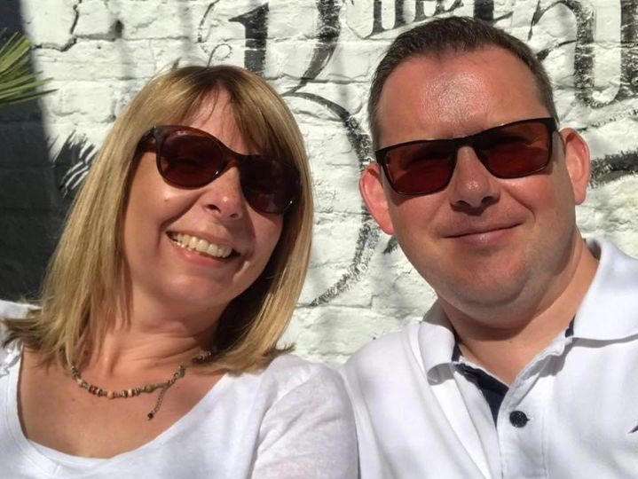 Angela and her husband Gavin