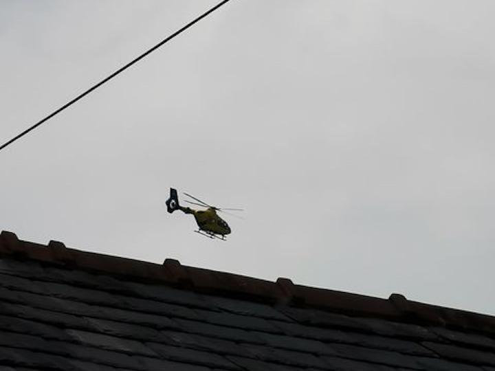 Air ambulance Pic: Chris Hough