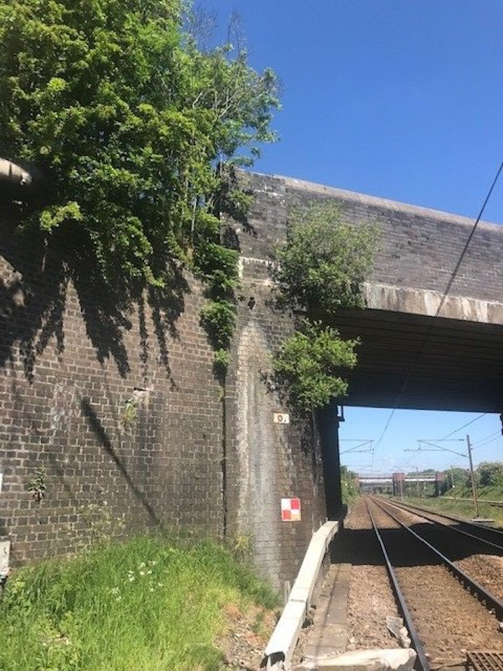 The stone was thrown from Croston Road bridge Pic: British Transport Police