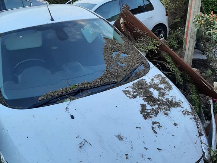Edward Street crash Pic: Shane King