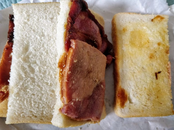 Goffy's bacon sandwich