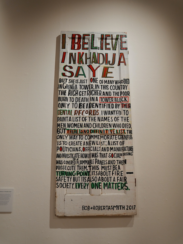 I Believe in Khadija Saye by Bob and Roberta Smith Pic: Lisa Brown