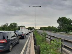 Tailbacks on the M55 Pic: Anthony New