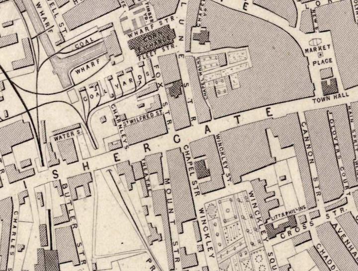 Map of Preston in 1852