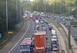 Current traffic on M6 northbound. Pic: Motorway traffic cameras