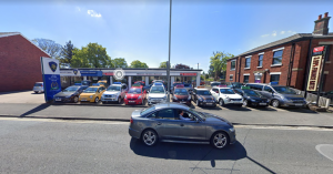 Sharoe Green car garage to be turned into convenience store. Pic: Google