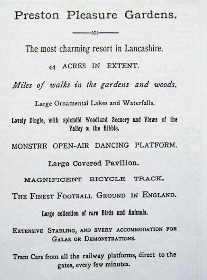Preston Pleasure Gardens poster