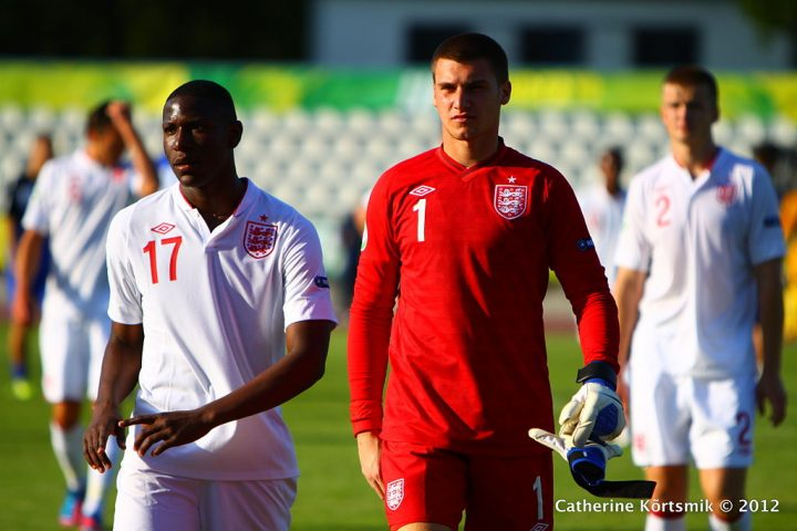 Sam Johnstone playing for England U19s against Croatia in 2012 Pic: Catherine Kõrtsmik, CC BY 2.0 , via Wikimedia Commons