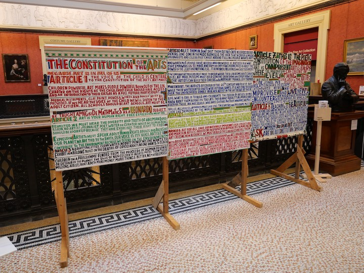 The Constitution of the Arts by Bob and Roberta Smith Pic: Lisa Brown