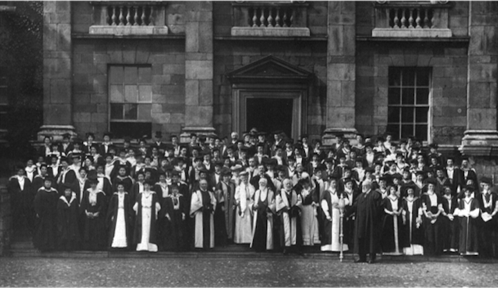 The Steamboat Ladies at their graduation Pic: Somerville College