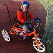 Toby with his specialist tricycle