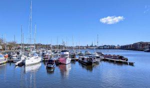 Boats on a sunny day at Preston Marina Pic: Tony Worrall