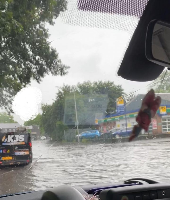 Floodwater in Aqueduct Street Pic: Charmaine Cha