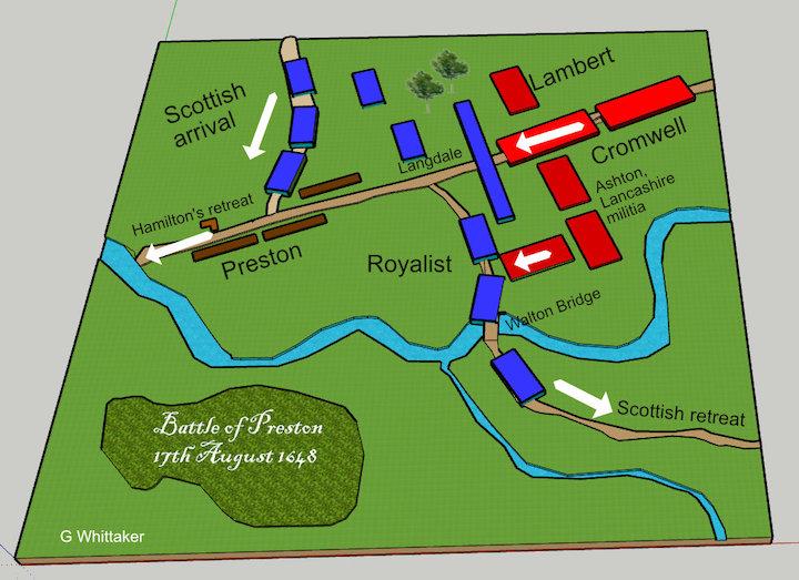 Model of the 1648 Battle of Preston Pic: Geoffrey Whittaker