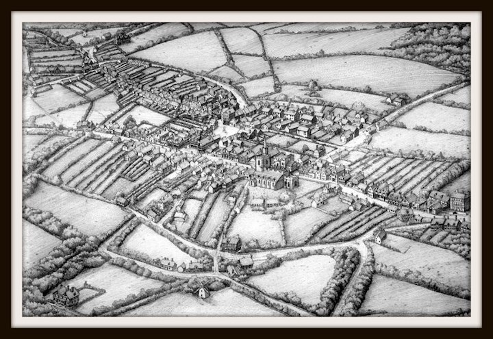 A superb artistic visualisation of Preston in the mid 17th century by Terry Rushworth Pic: Preston Historical Society