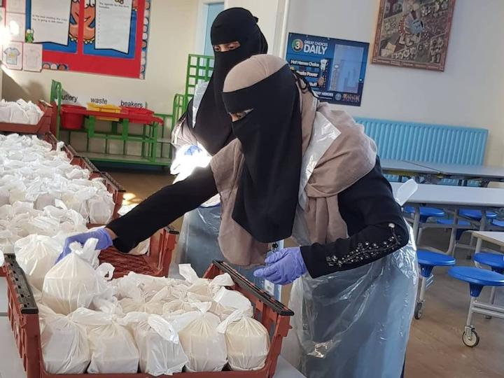 Volunteers preparing the Eid ul Adha menu Pic: Preston's Promise