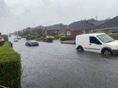 Ronaldsway flooding Pic: Ryan Gillett