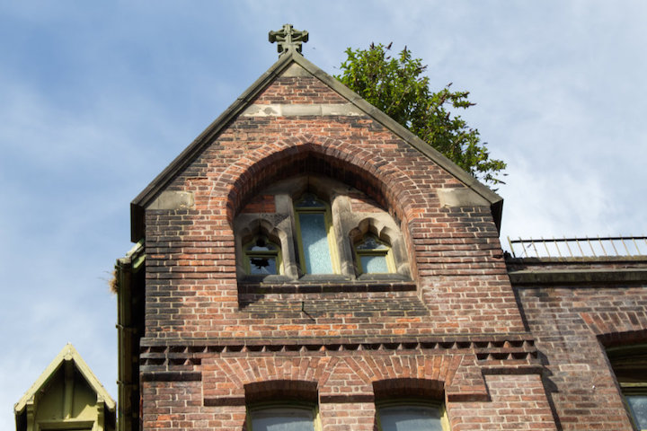 St Joseph's Orphanage with tree in roof Pic: Geoffrey Whittaker