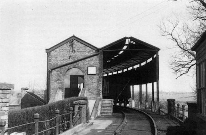 The station at Whittingham, with brake van converted to passenger use Pic: Opacity