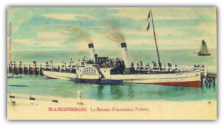 A postcard showing Alsop's paddle steamer after it was sold abroad Pic: Preston Digital Archive