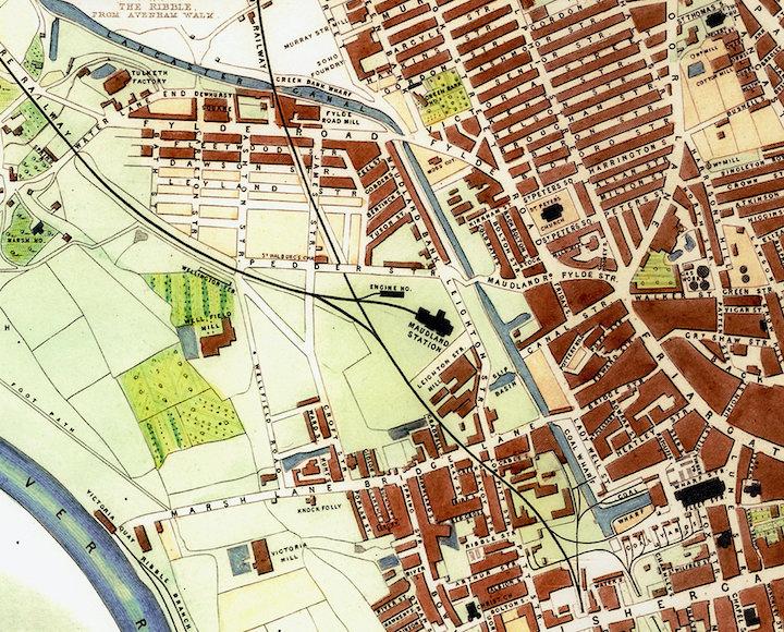 Map of Preston in 1852 Pic: Preston Digital Archive