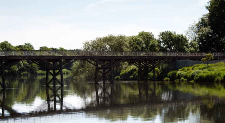 Old Tram Bridge Pic: Geoffrey Whittaker
