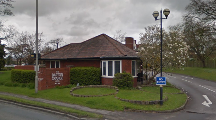 Barton Grange hotel entrance. Pic: Google