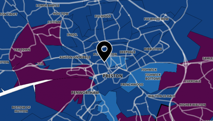 Latest Covid stats map