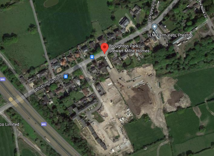 Broughton Park development site. Pic: Google