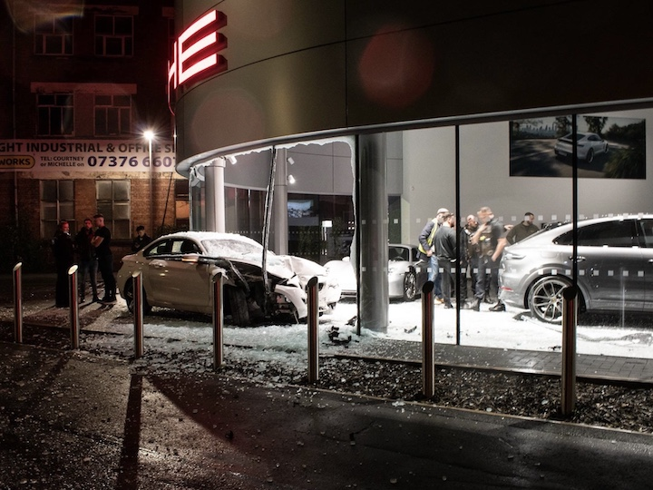 The crashed BMW was covered in broken glass Pic: Gareth Thomas Eckton