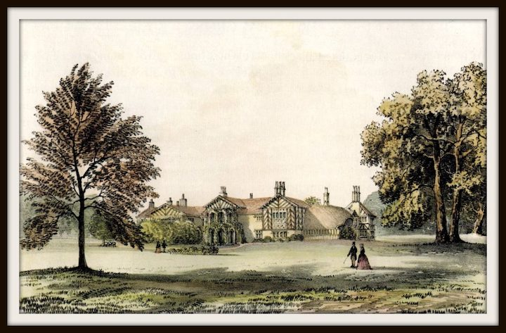 Red Scar House with original thatched cottage Pic: Preston Digital Archive