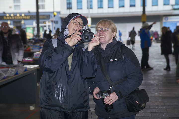 Participants at a street photography workshop in Preston earlier this year Pic: Garry Cook