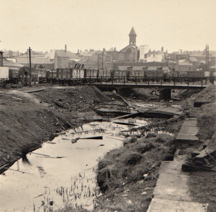 The canal basin just off Fishergate. Dereliction had set in by 1960. Pic: Preston Digital Archive