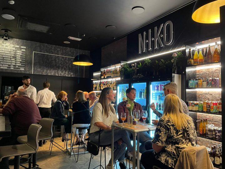 Inside NIKO wine and beer bar.