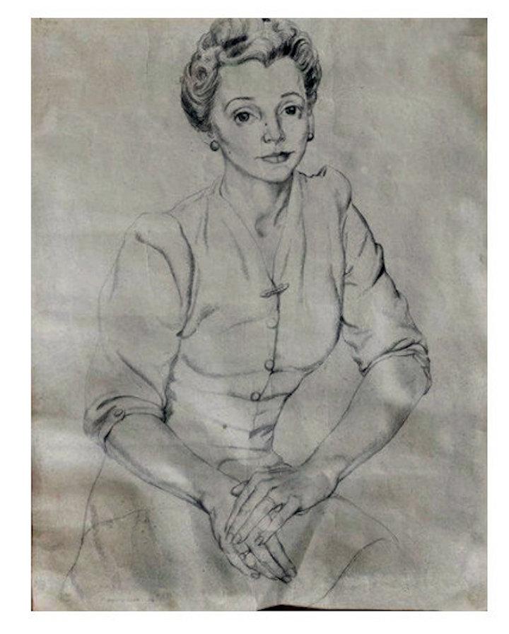 Mrs Wood by Harold Pic: Mutual Art
